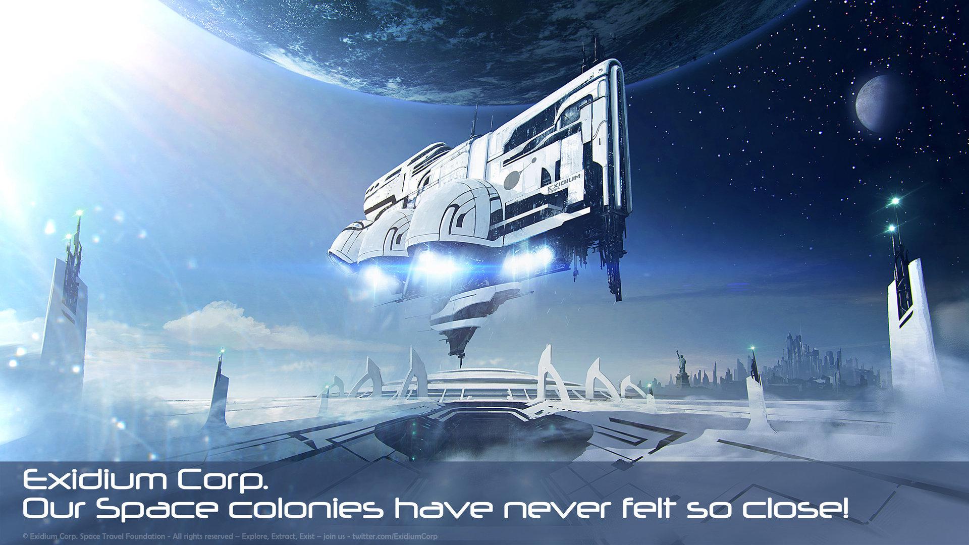 Artstation Space Colonies Exidium Corp