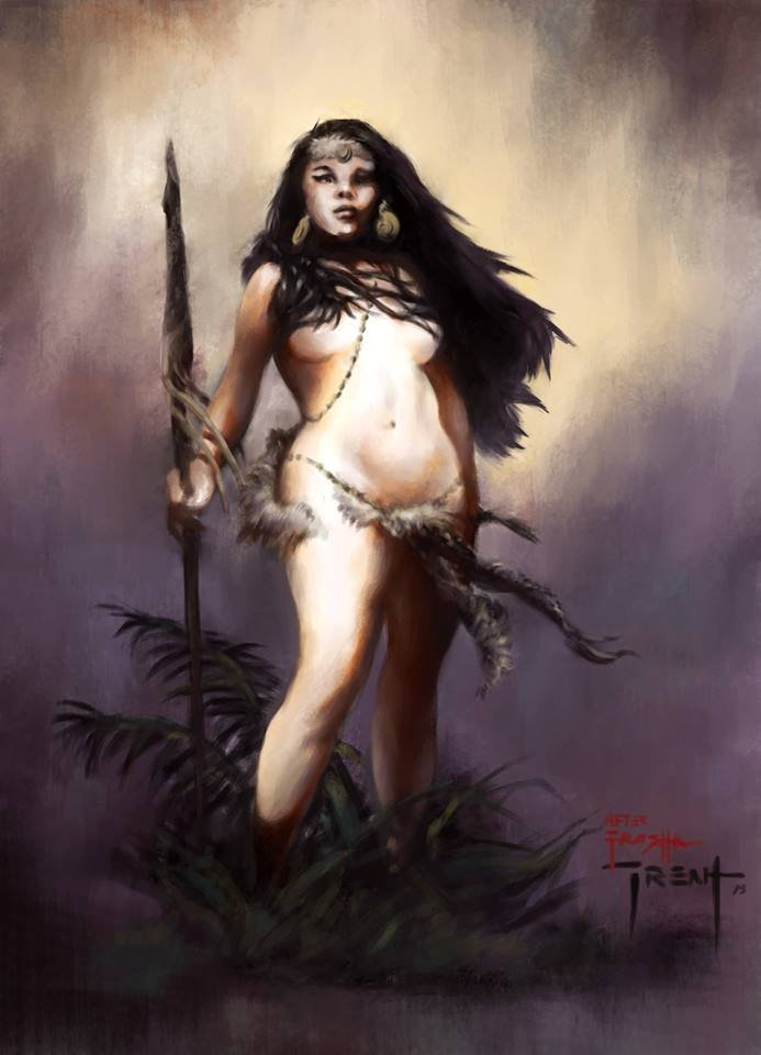 Frazetta Women : frazetta, women, ArtStation, Frazetta, Woman, Trent, Early