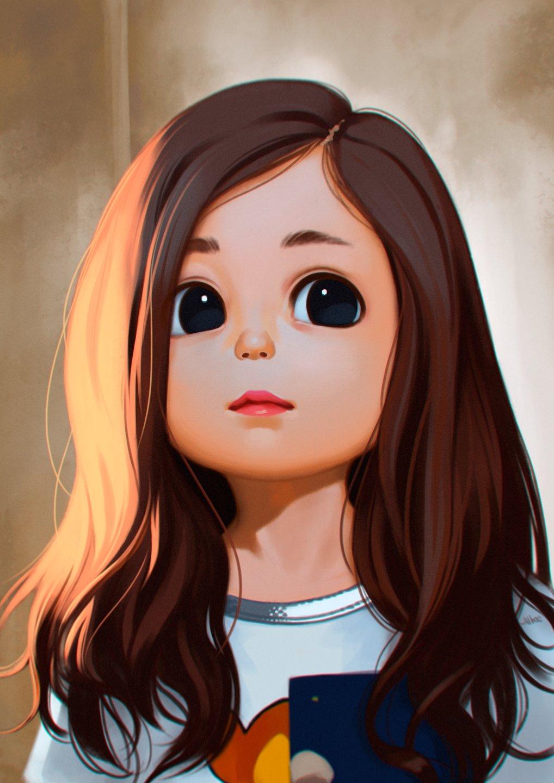 Cute Cartoon Girl Drawings