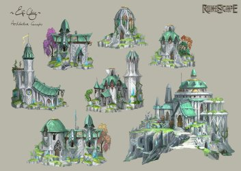 ArtStation Elf Buildings Neil Richards