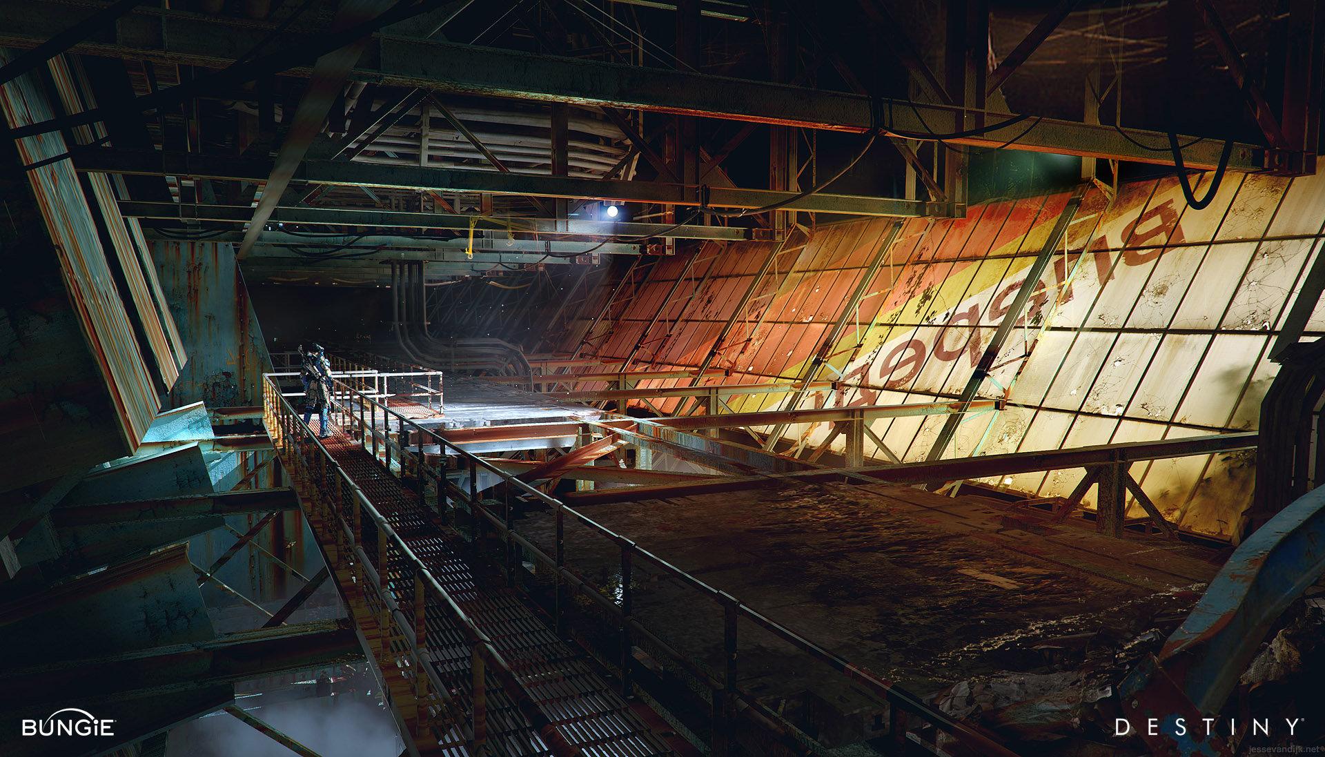 ArtStation  Destiny Inside the Cosmodrome Wall Jesse