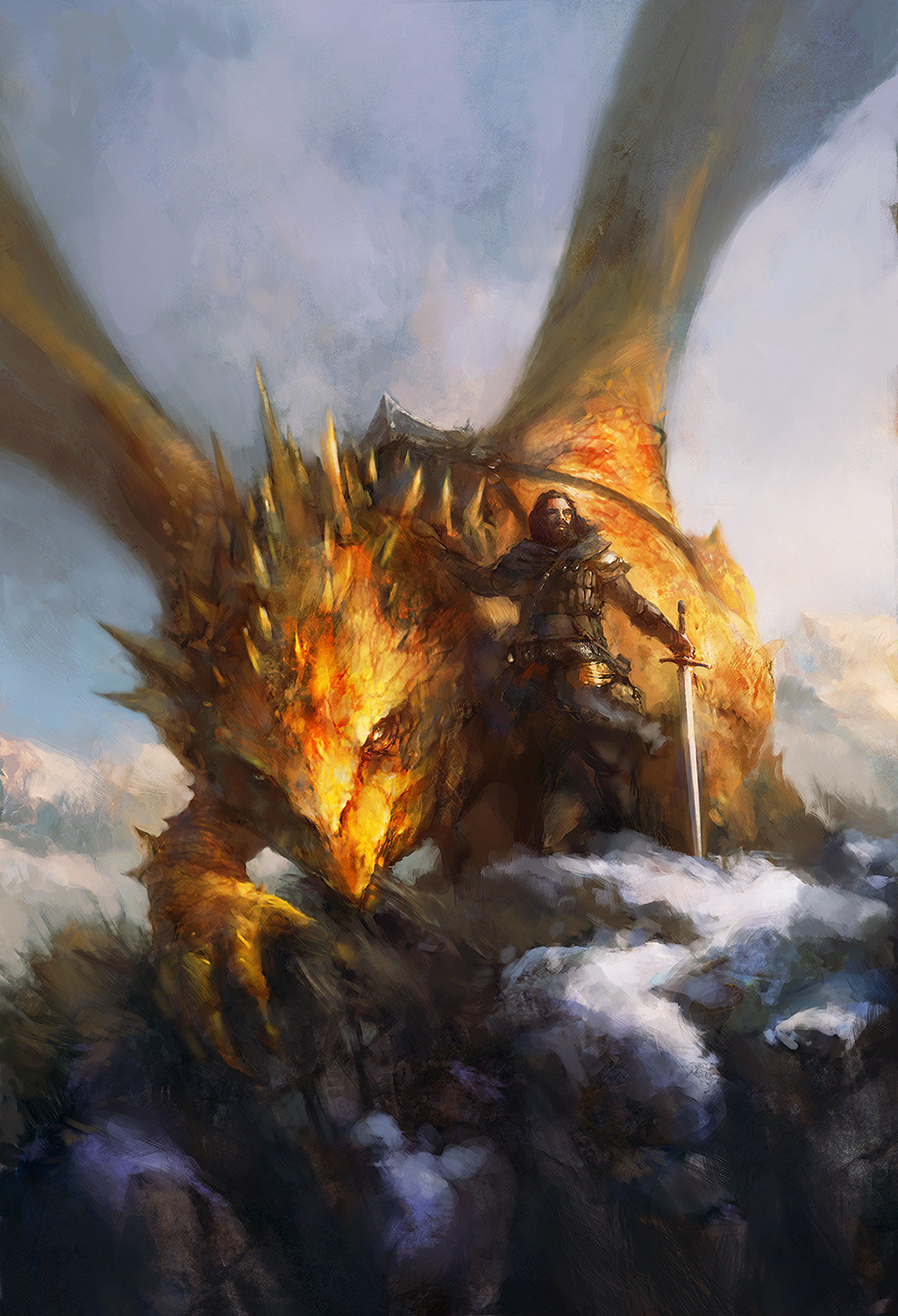 Artstation - Dragon Rider 02 Ev Shipard