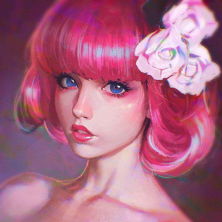 artstation - pink noise ilya kuvshinov