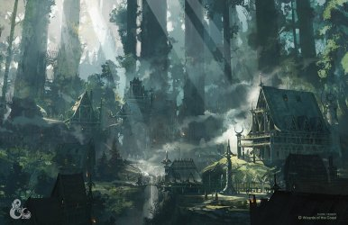 ArtStation Elven City Thom Tenery