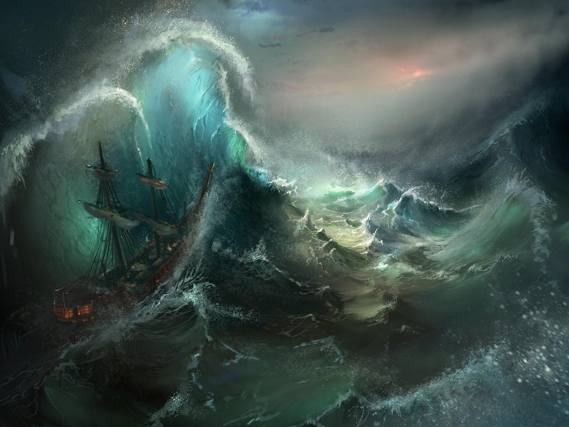 Artstation - Stormy Seas Tysen Johnson