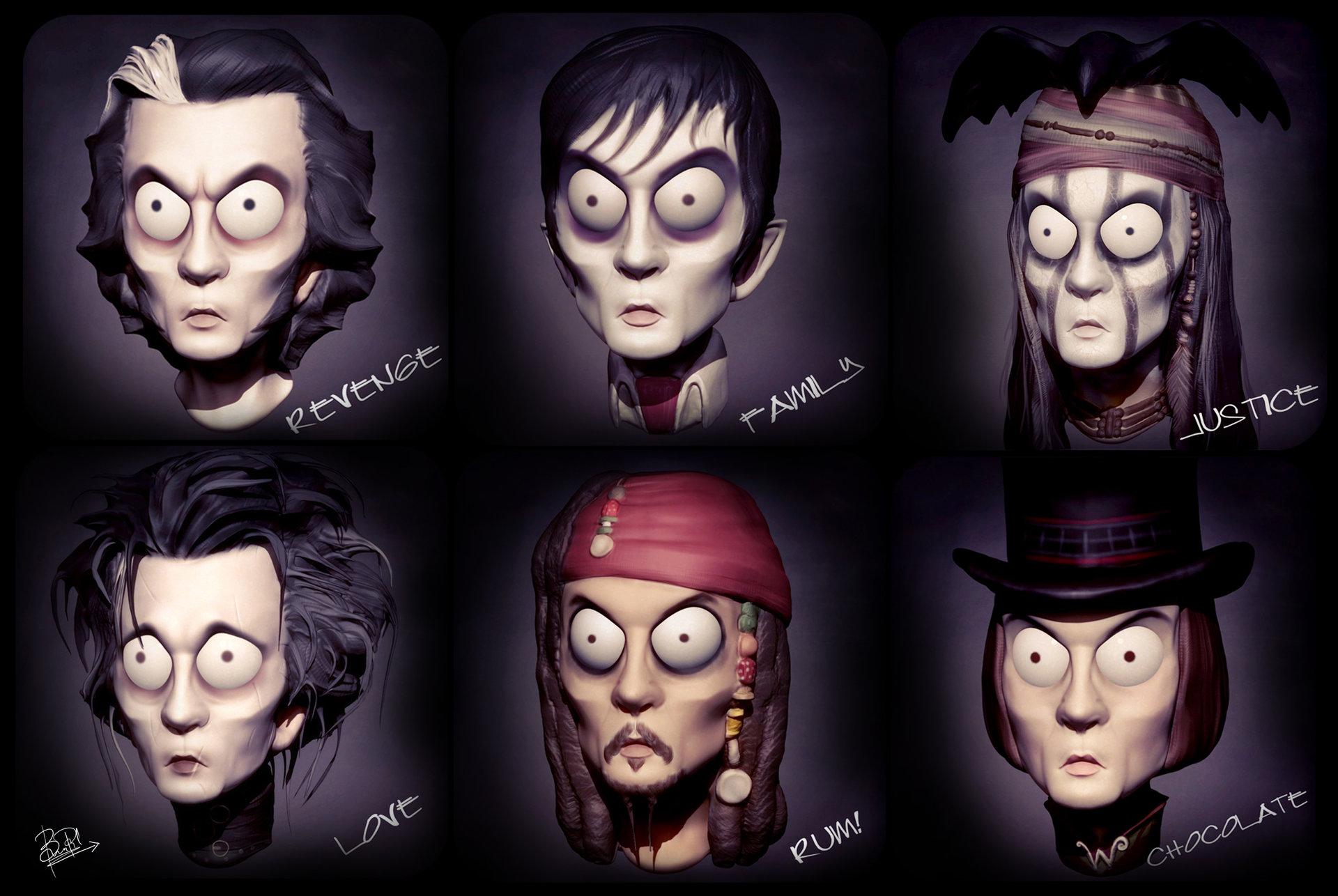 Artstation - Johnny Depp Characters Bhavesh Panchal