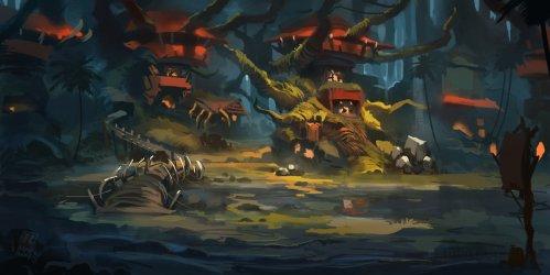 ArtStation Forest Orc Village Raph Herrera Lomotan