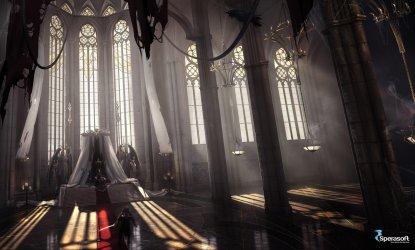interior concept throne artstation castle fantasy hall rheann room deviantart daria artwork environment dark justice interiors paintings 收藏自 king infinite