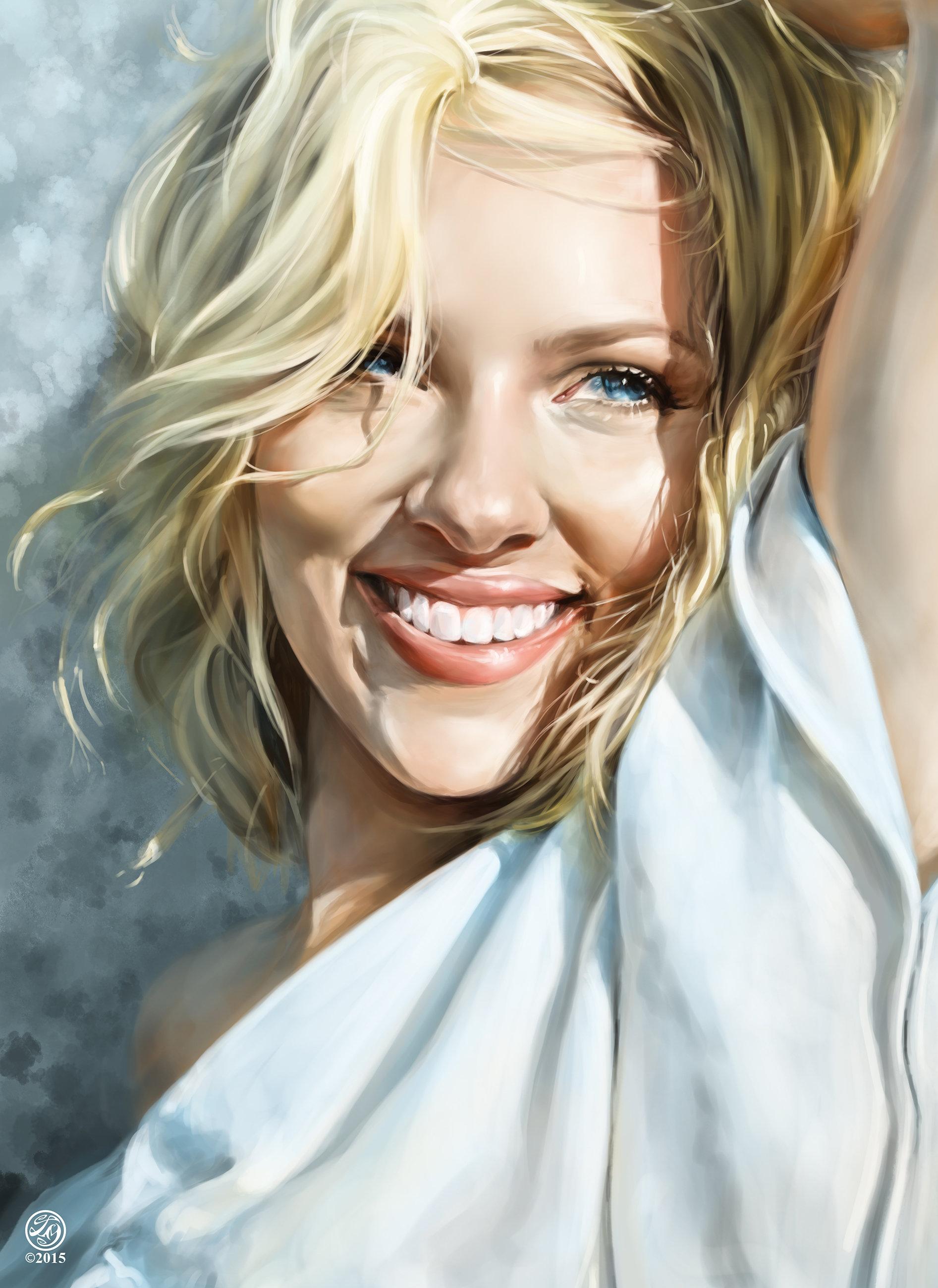 Artstation - Scarlett Johansson Portrait Catherine Steuer