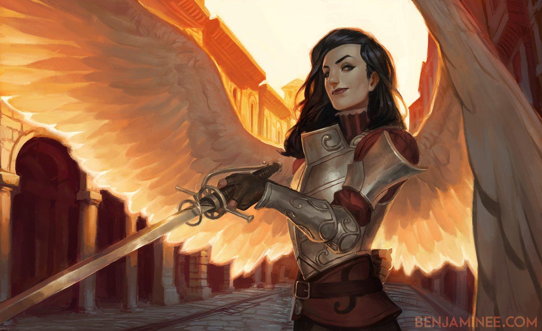 Female Warrior Angels Drawings