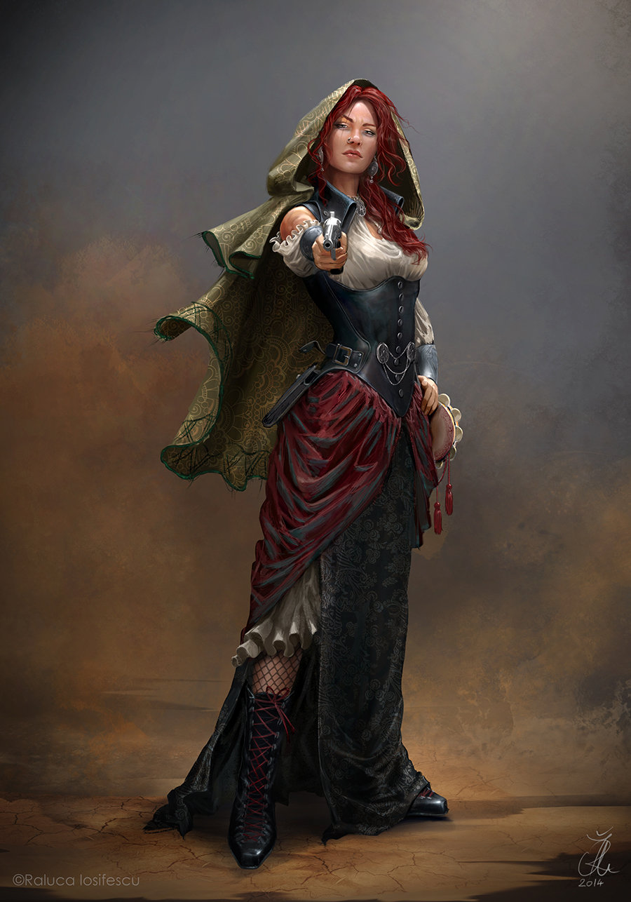 Female Pirate Character Concept Art