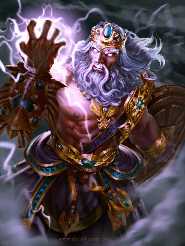 ArtStation SMITE Zeus Wrath Of Olympus Chris Bjors