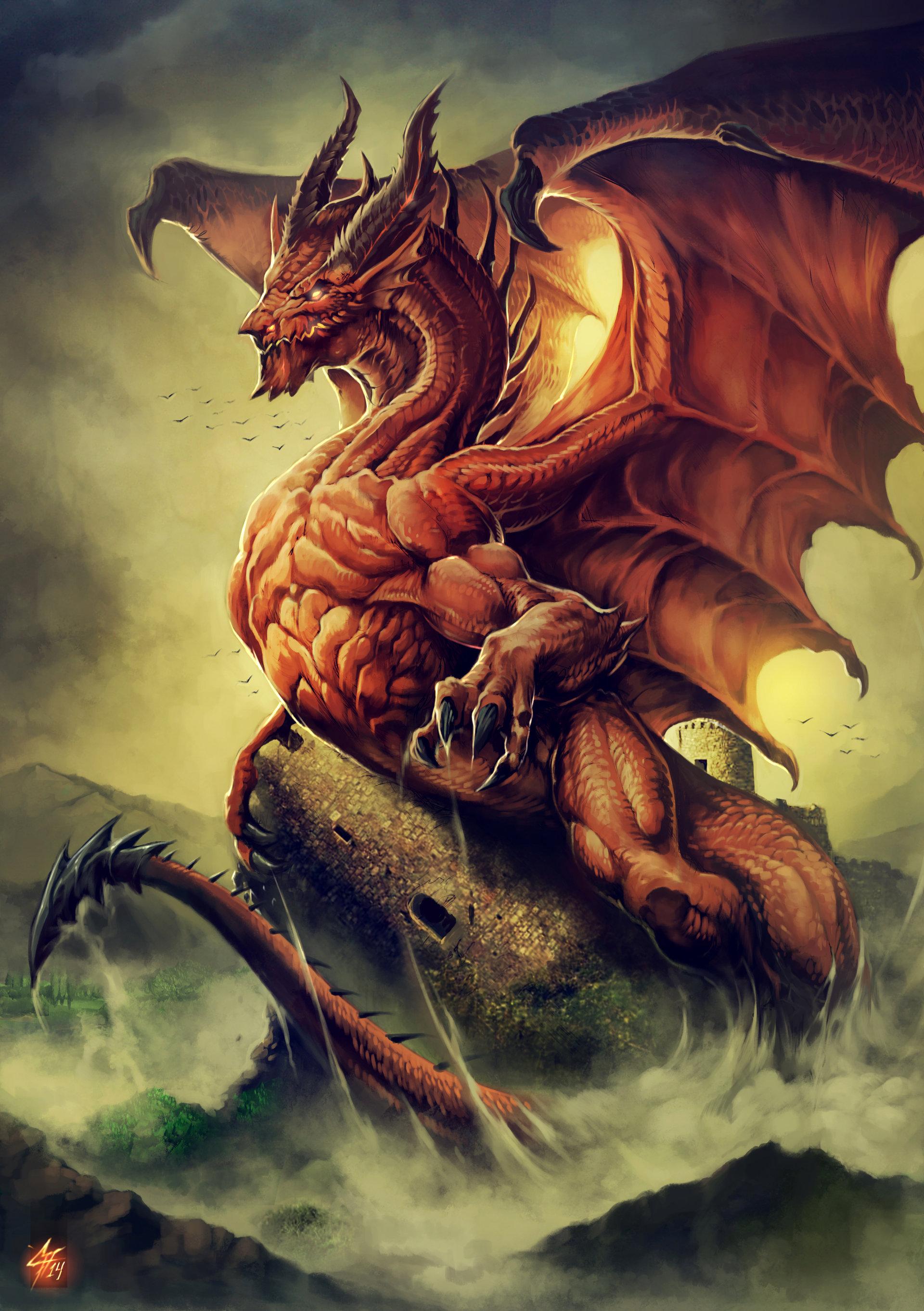 Artstation - Welsh Dragon Carlos Herrera