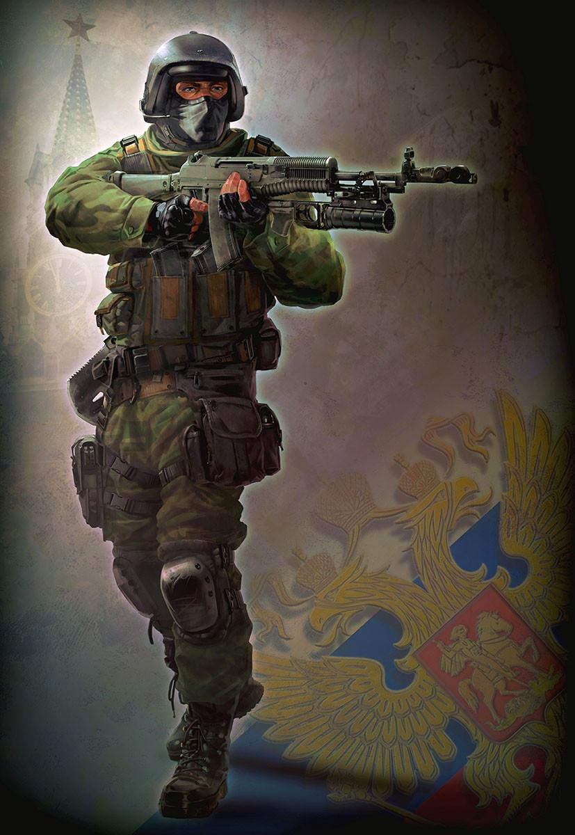 3d Call Of Duty 2 Wallpaper Artstation Spetsnaz Phelan A Davion