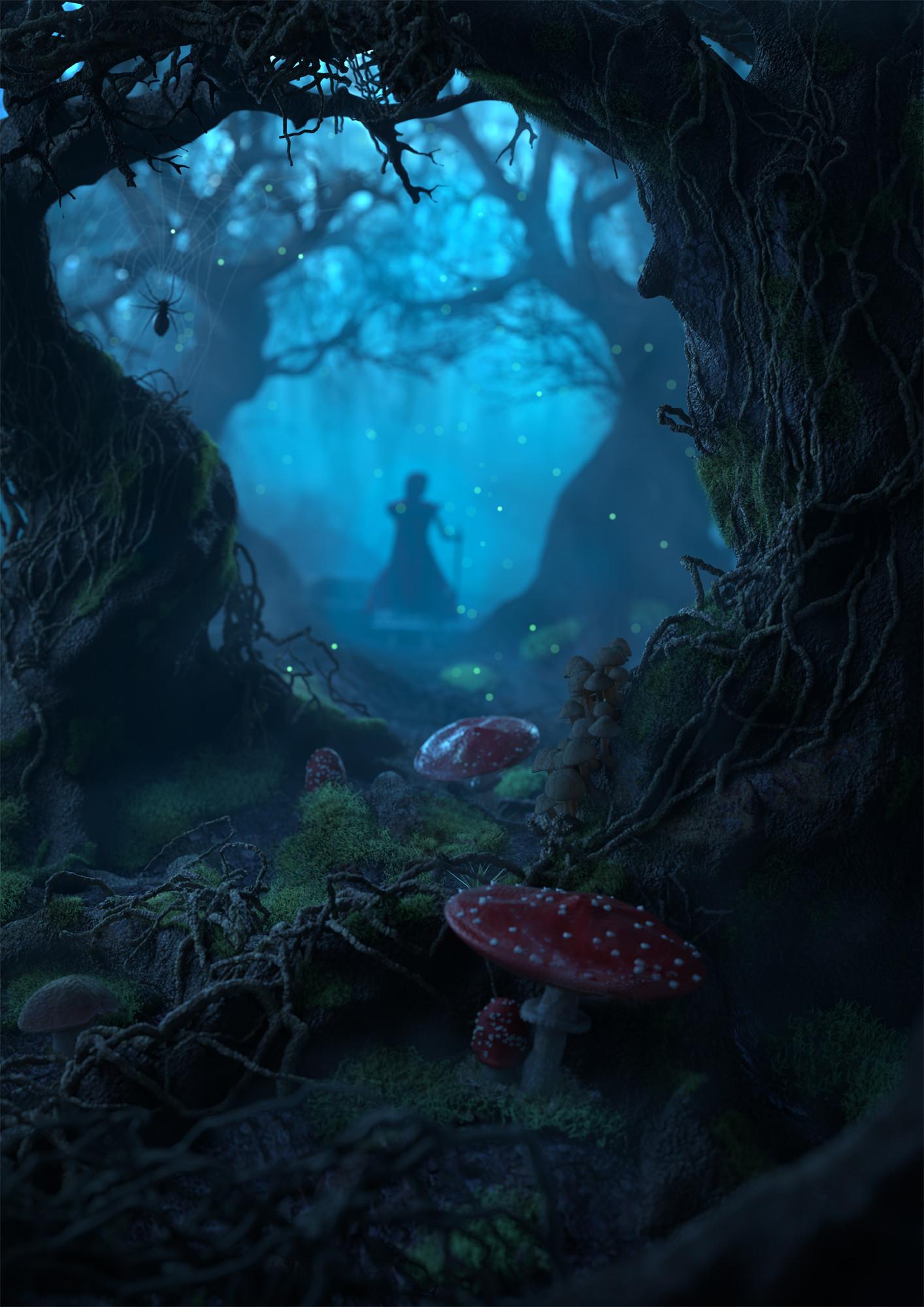 Girl In Woods Wallpaper Artstation Magic Forest Manuel Peter