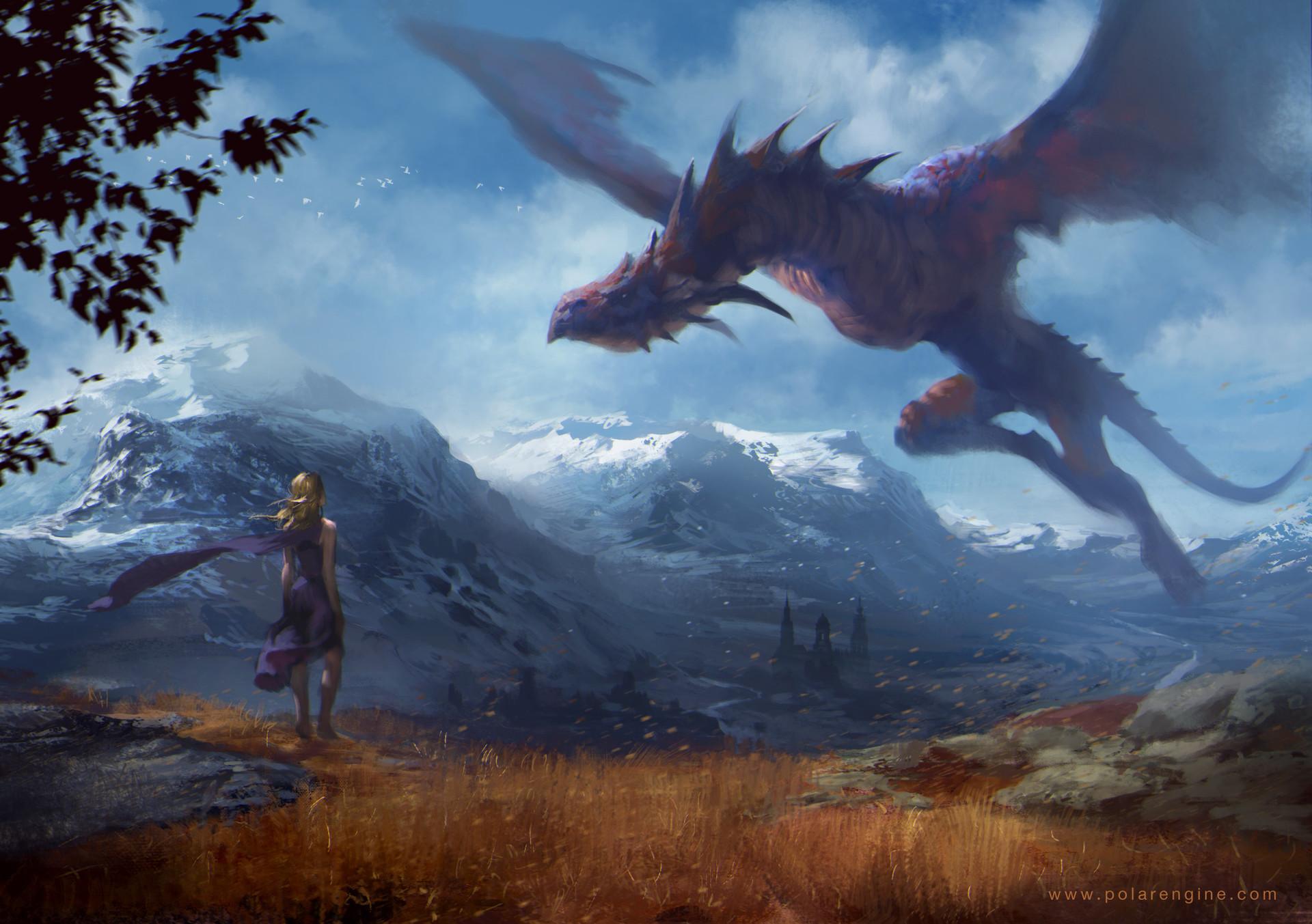 Artstation - Mother Of Dragons Lius Lasahido