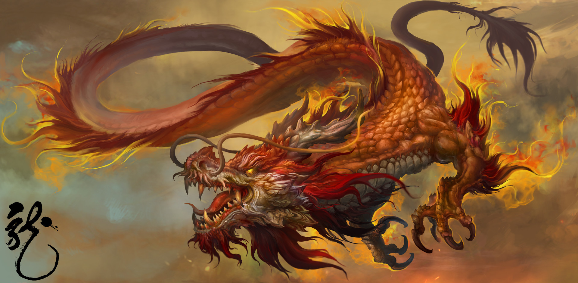 artstation chinese dragon russell