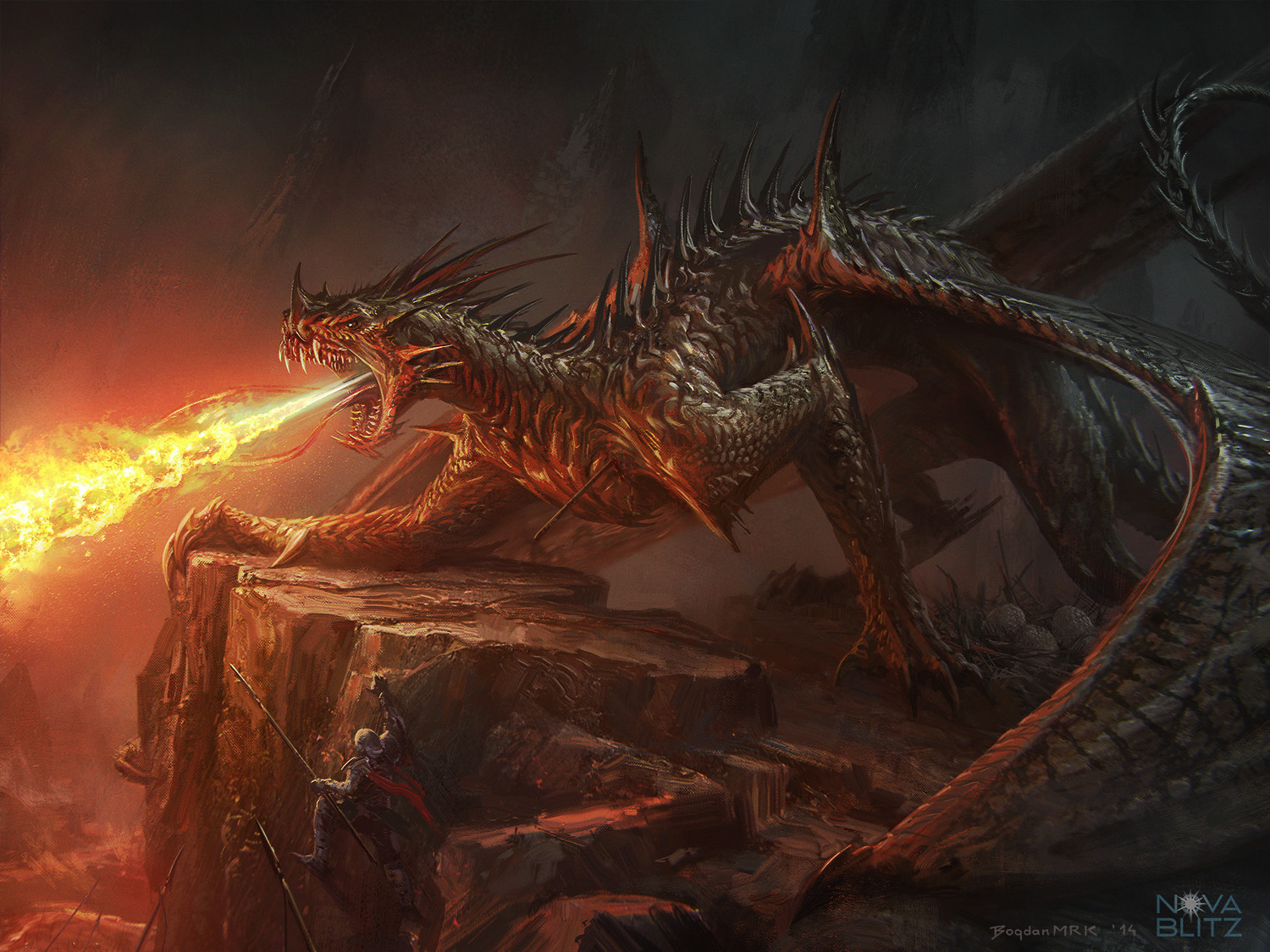 Artstation - Demonic Dragon Bogdan Marica