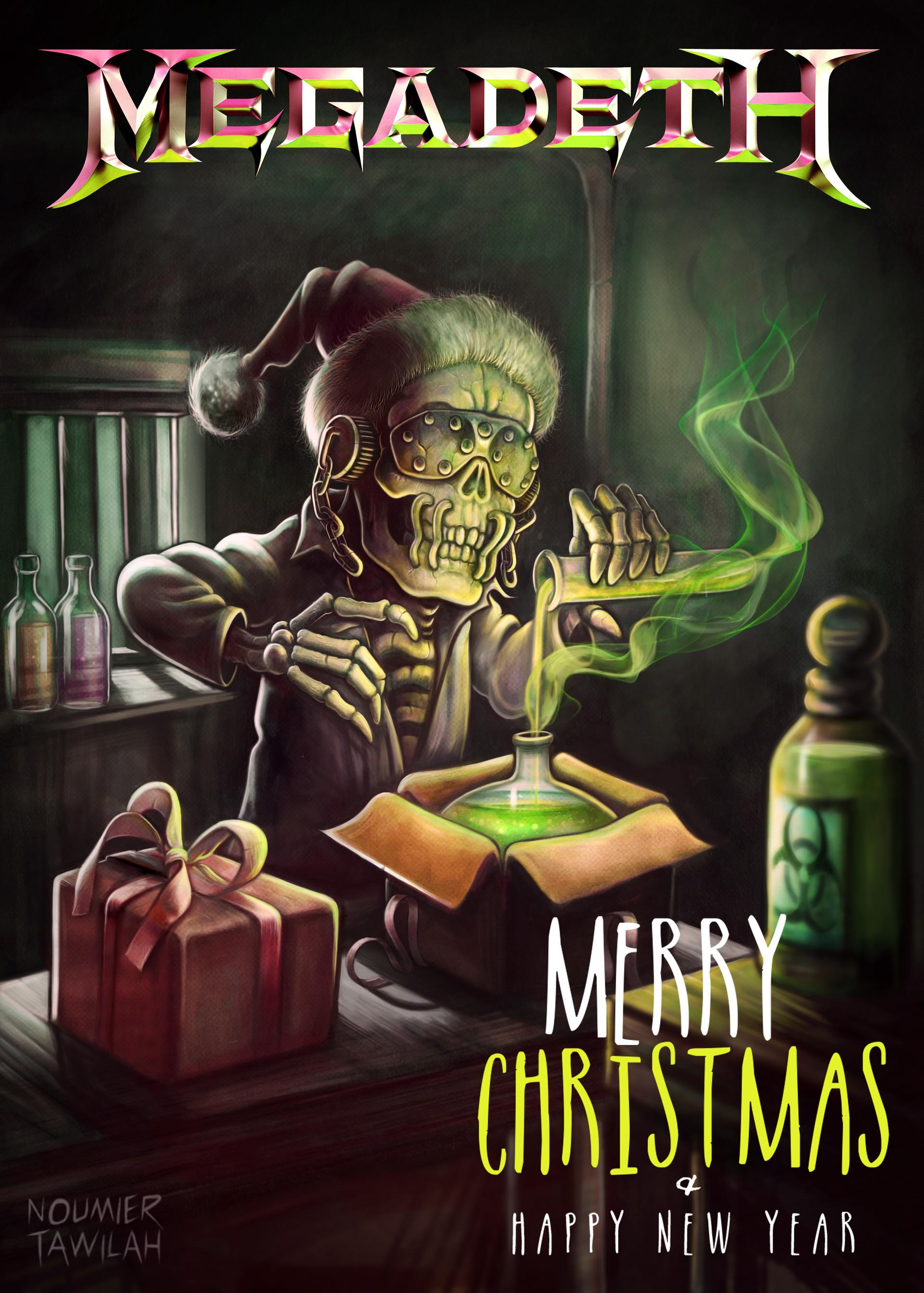ArtStation Megadeth Christmas Card 2015 Noumier Tawilah