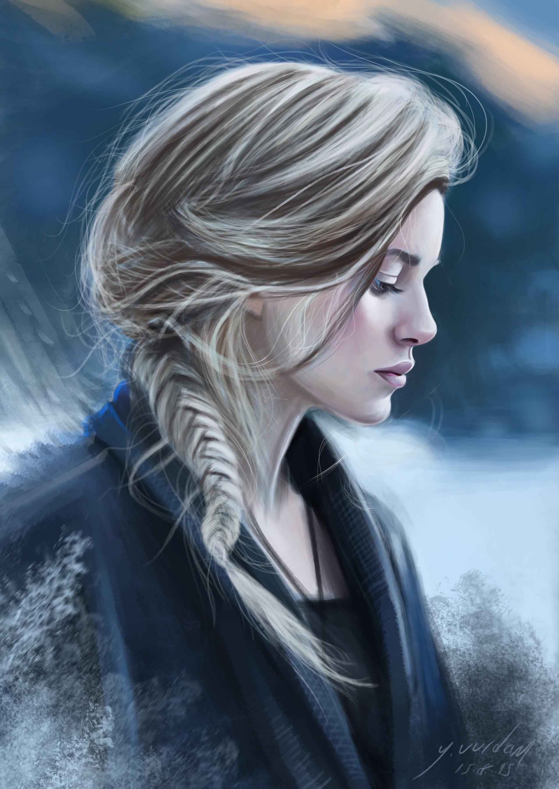 artstation - blonde girl yaar
