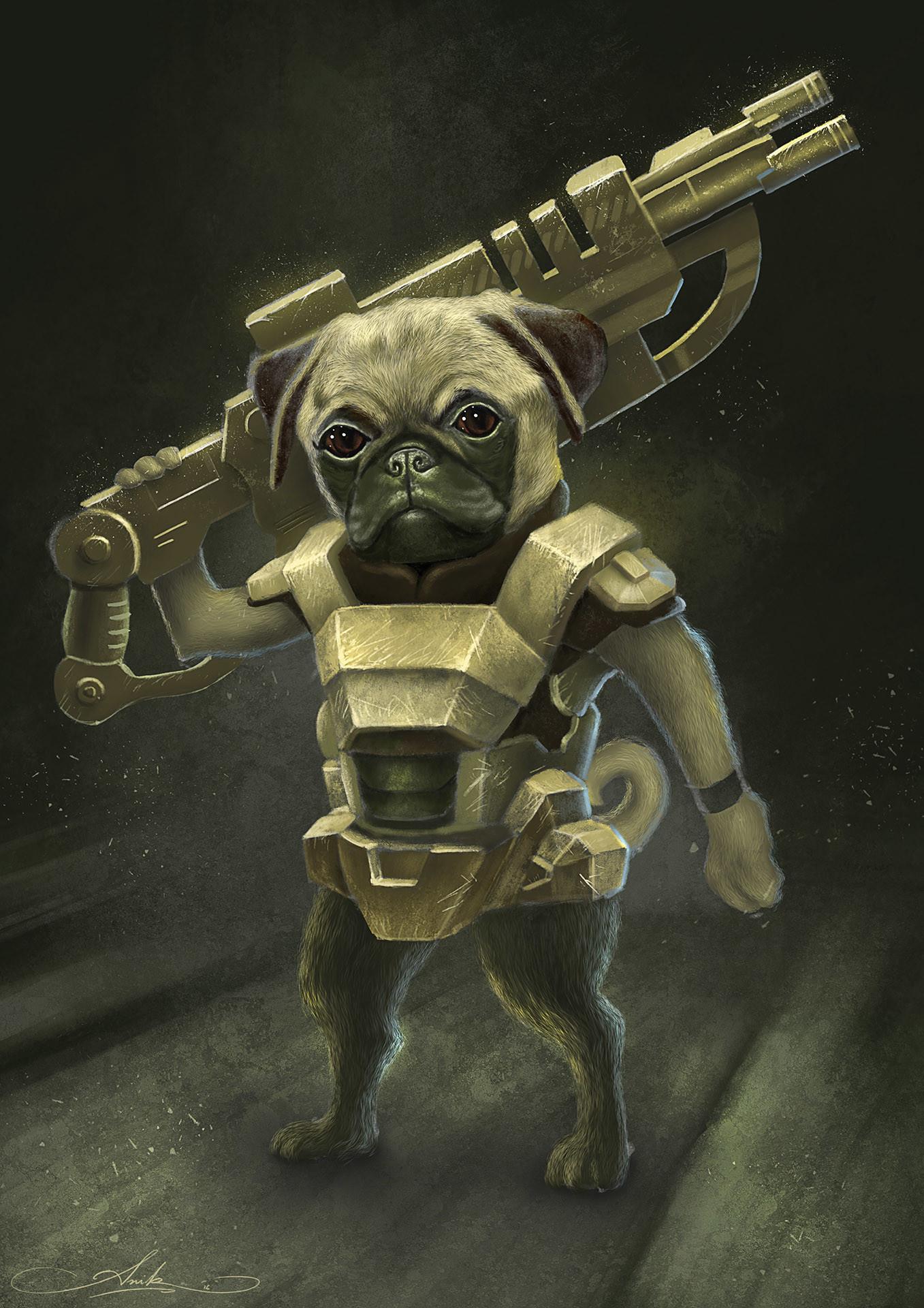 Artstation Warrior Pug Anik Biswas
