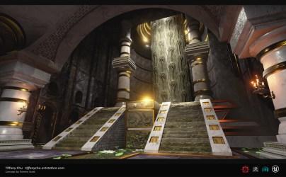 throne room ue4 artstation throneroom chu tiffany steps