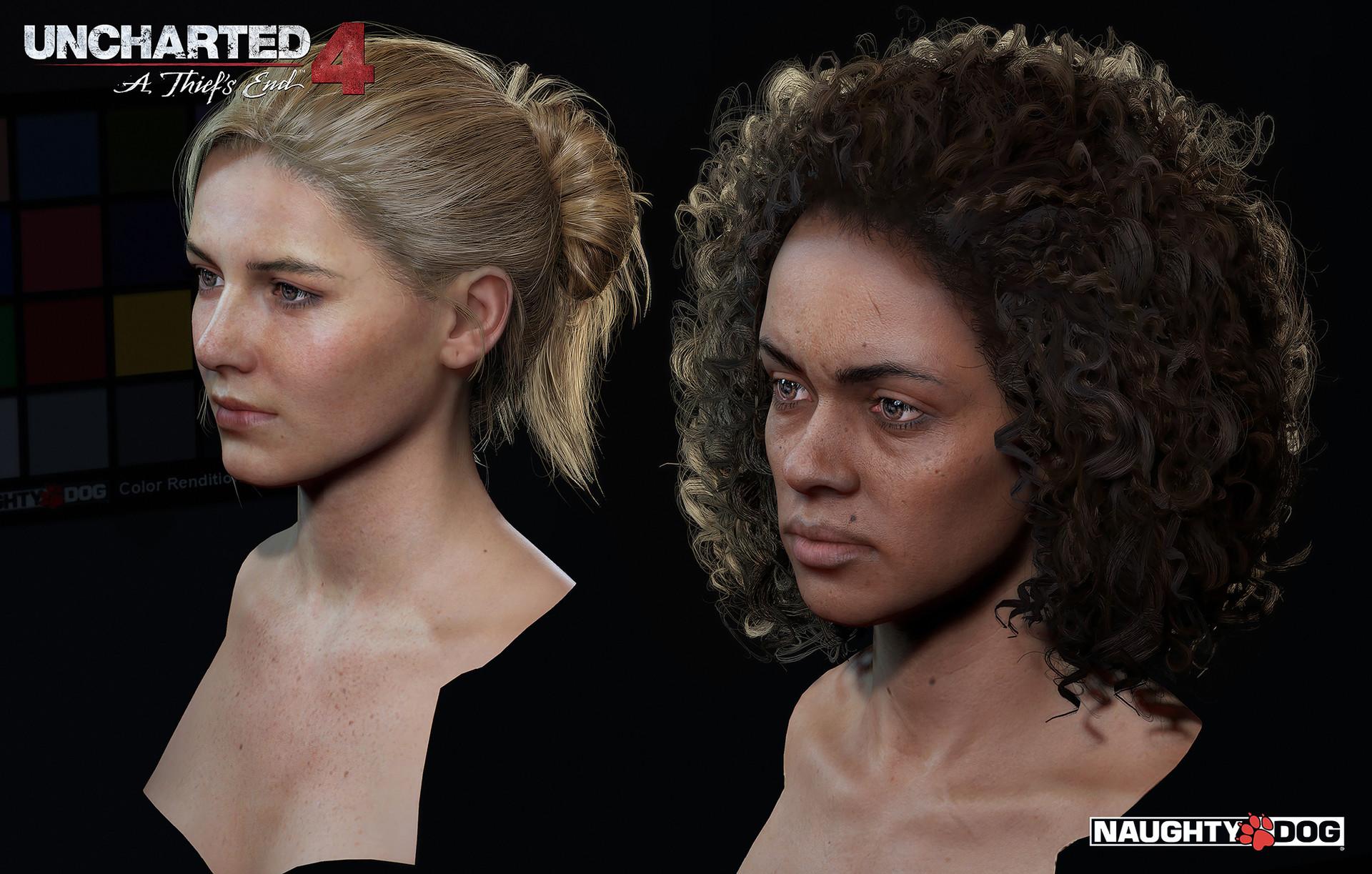 artstation uncharted 4 characters
