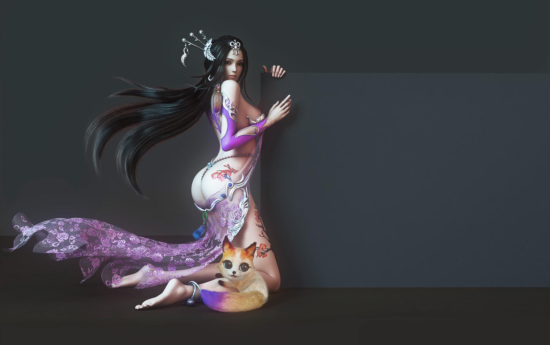 Top 5 Beautiful 3d Art Yonglin Yao Zbrushtuts