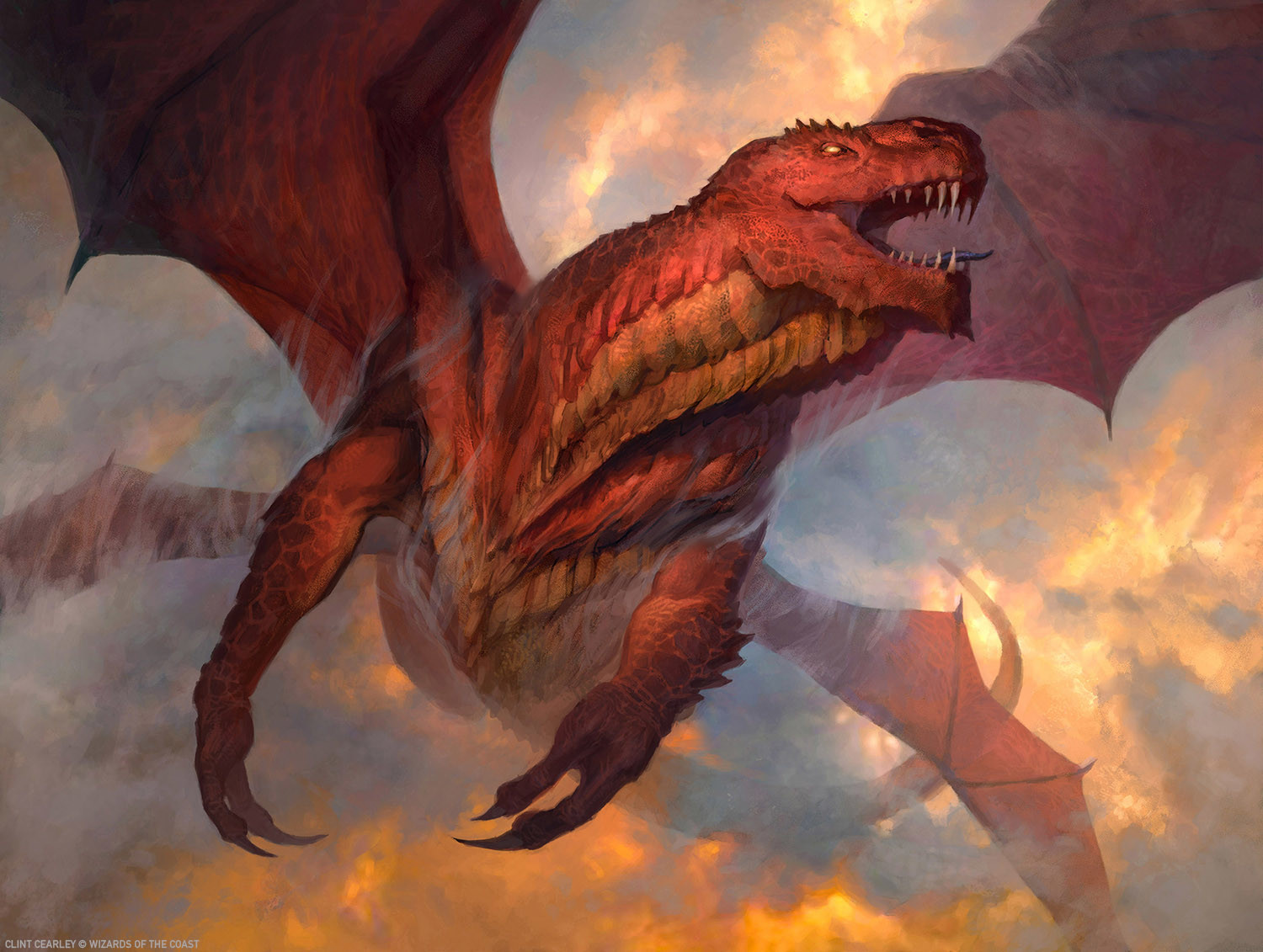 MTG The Gathering Dragon Art