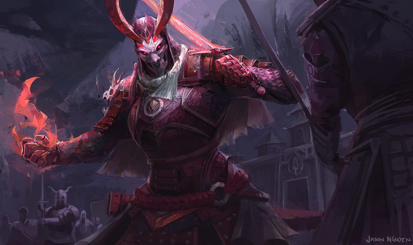 Artstation - Demon Samurai Jason Nguyen