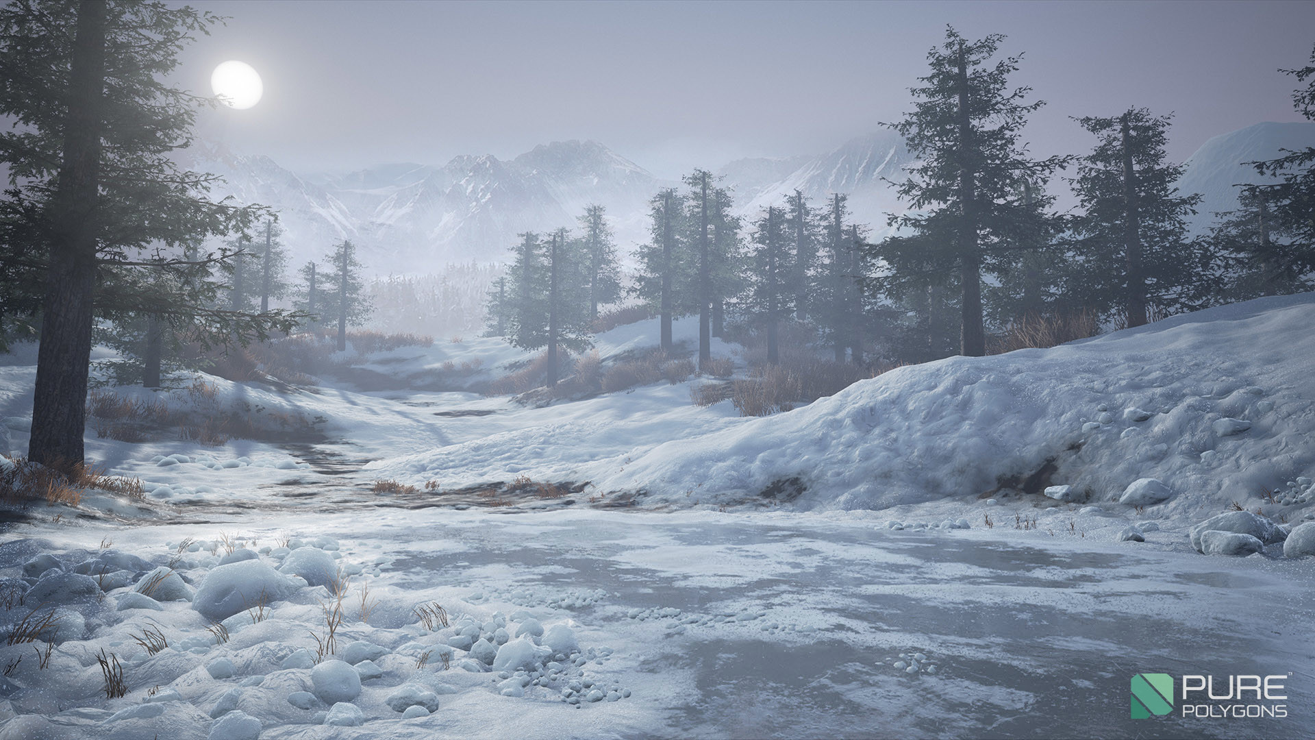 Snow Falling Background Wallpaper Artstation Substance Amp Unreal Tutorial Forest Snow