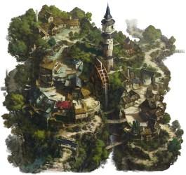 village mill mountains hee jung artstation imaginarylandscapes cdnb cdnb3