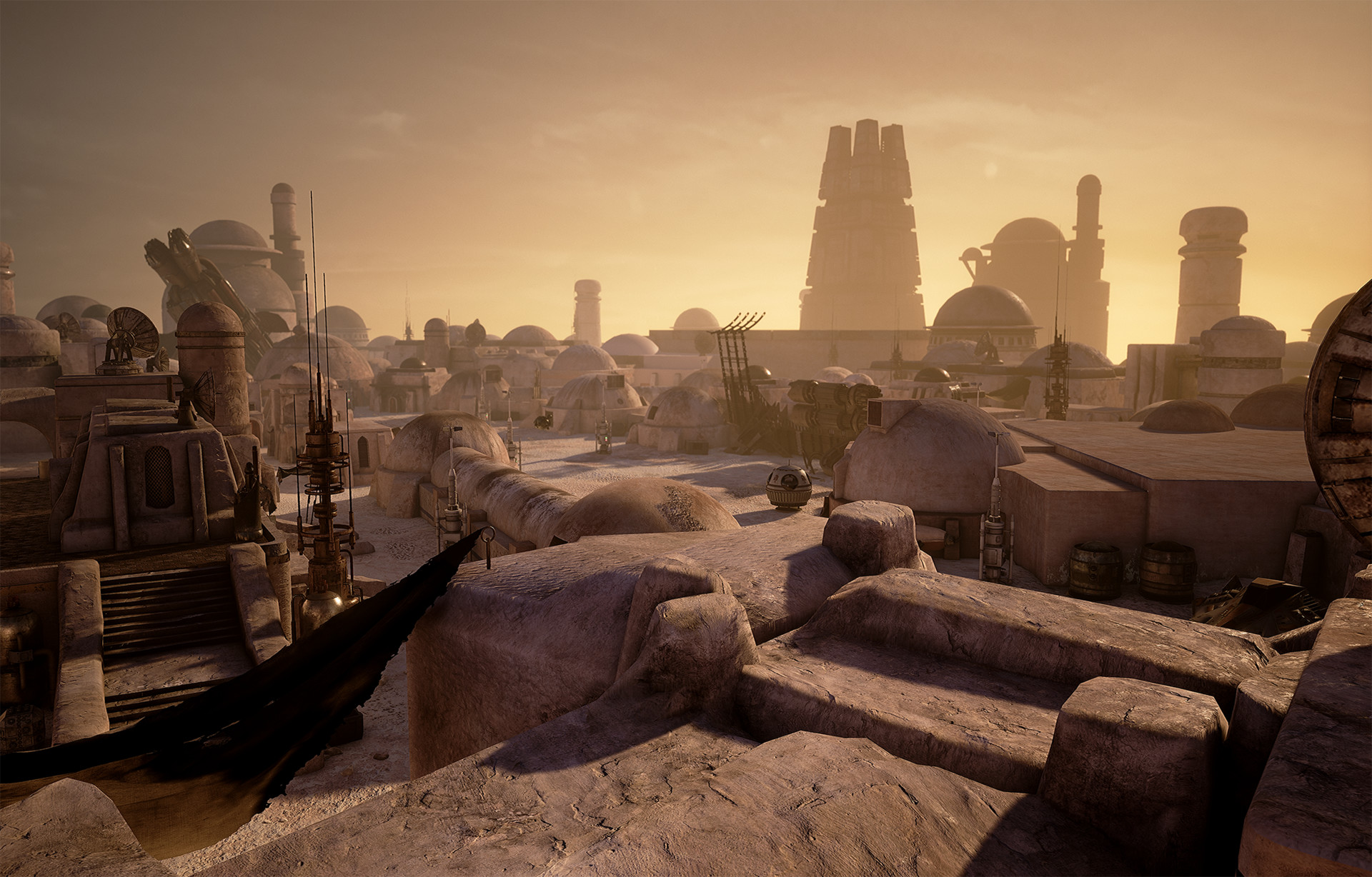 Terry Hess Star Wars Tatooine Mos Eisley