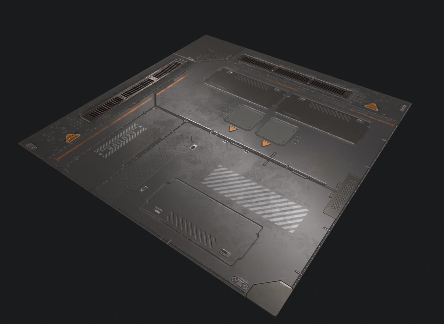 ArtStation  Scifi Floor Panel Kai Li