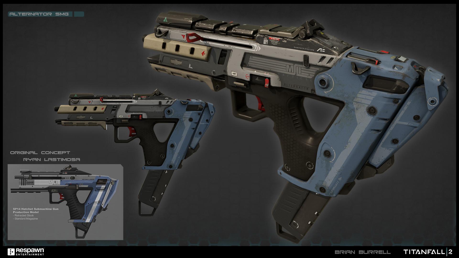 Mass Effect Fall Wallpaper Brian Burrell Alternator Smg Titanfall 2