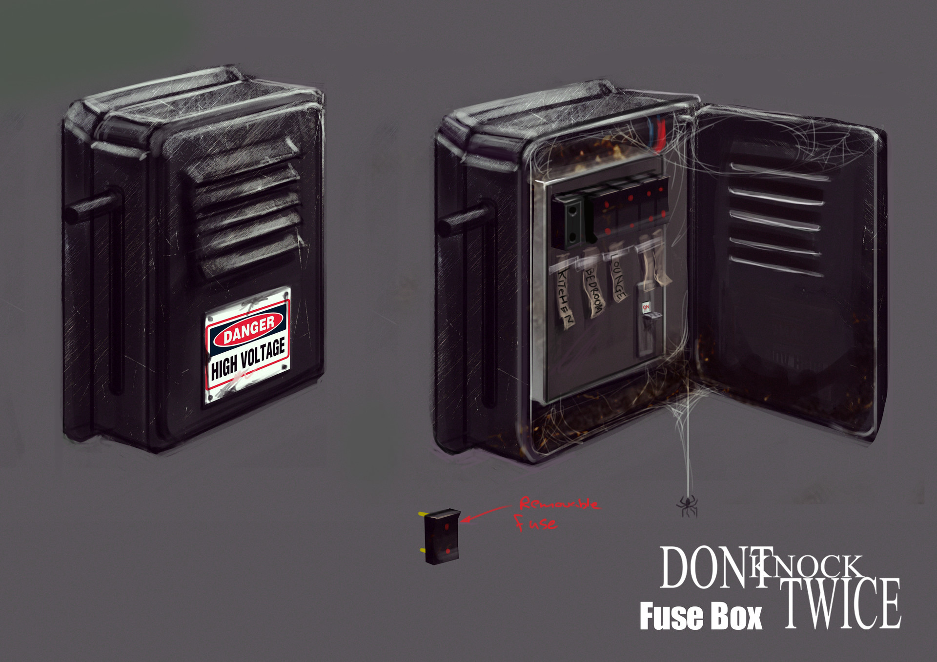 hight resolution of fuse box that the player would interact with