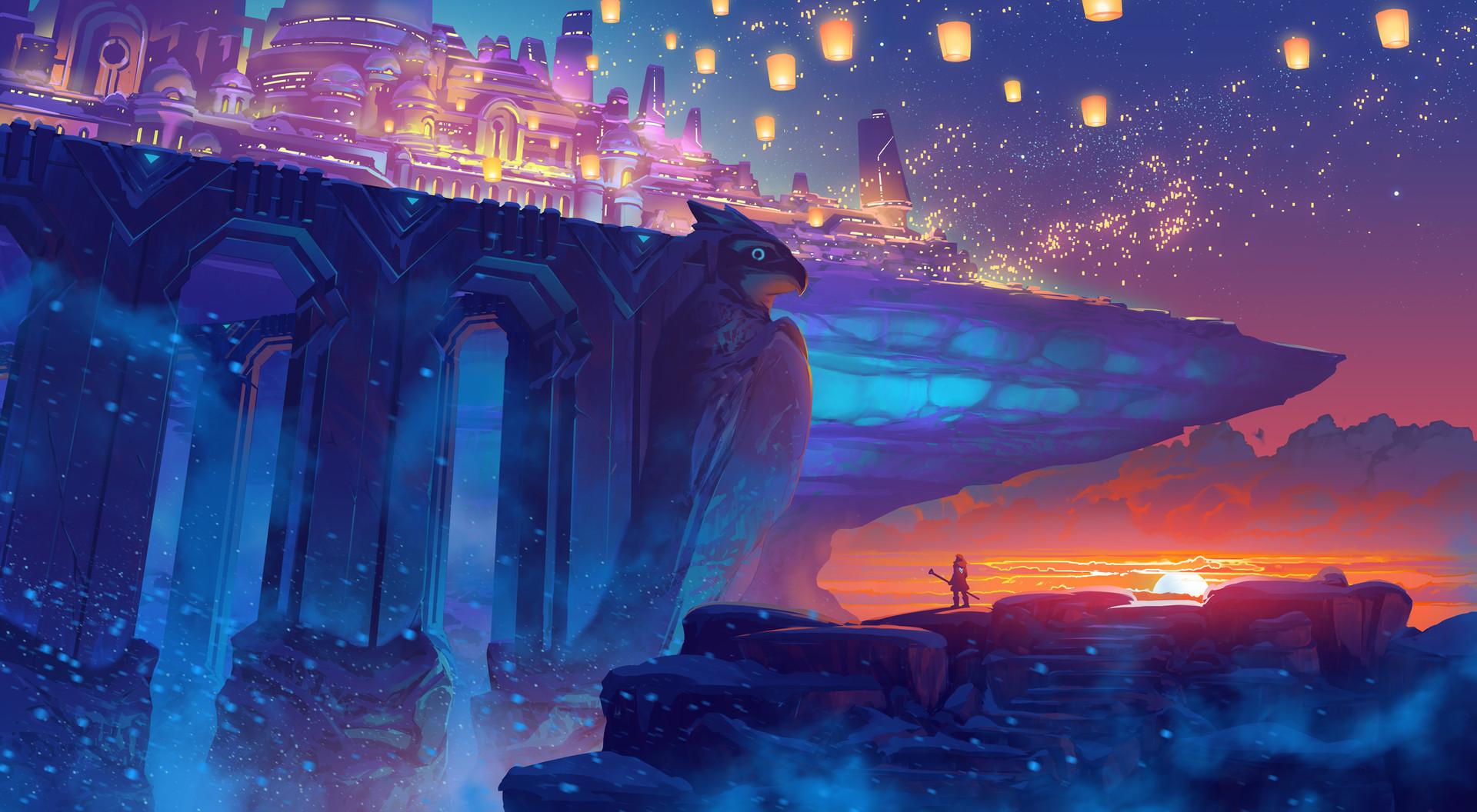 Artstation - Duelyst Frostfire Festival Counterplay Games