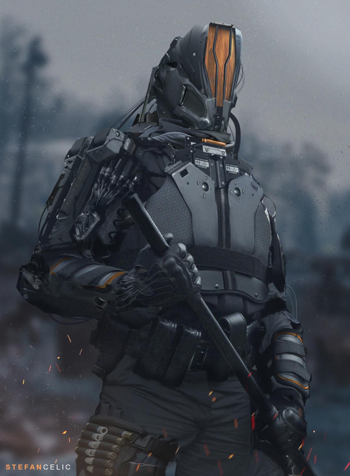 Future Sci-fi Soldier by Stefan Celic