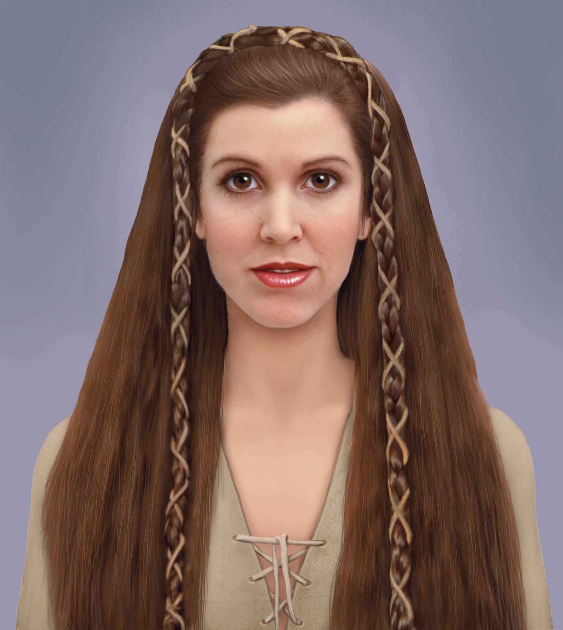 princess leia hairstyles endor
