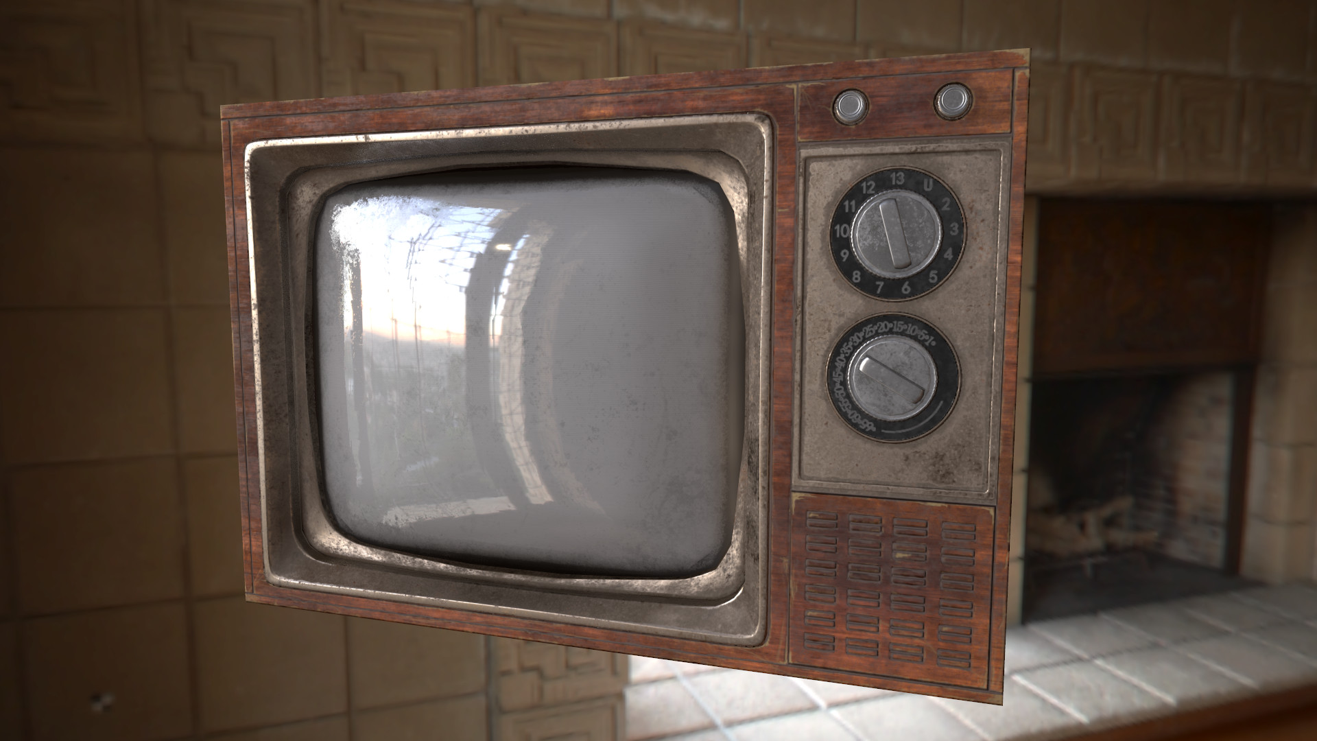 ArtStation  Old television box low poly for game Shelly Lee