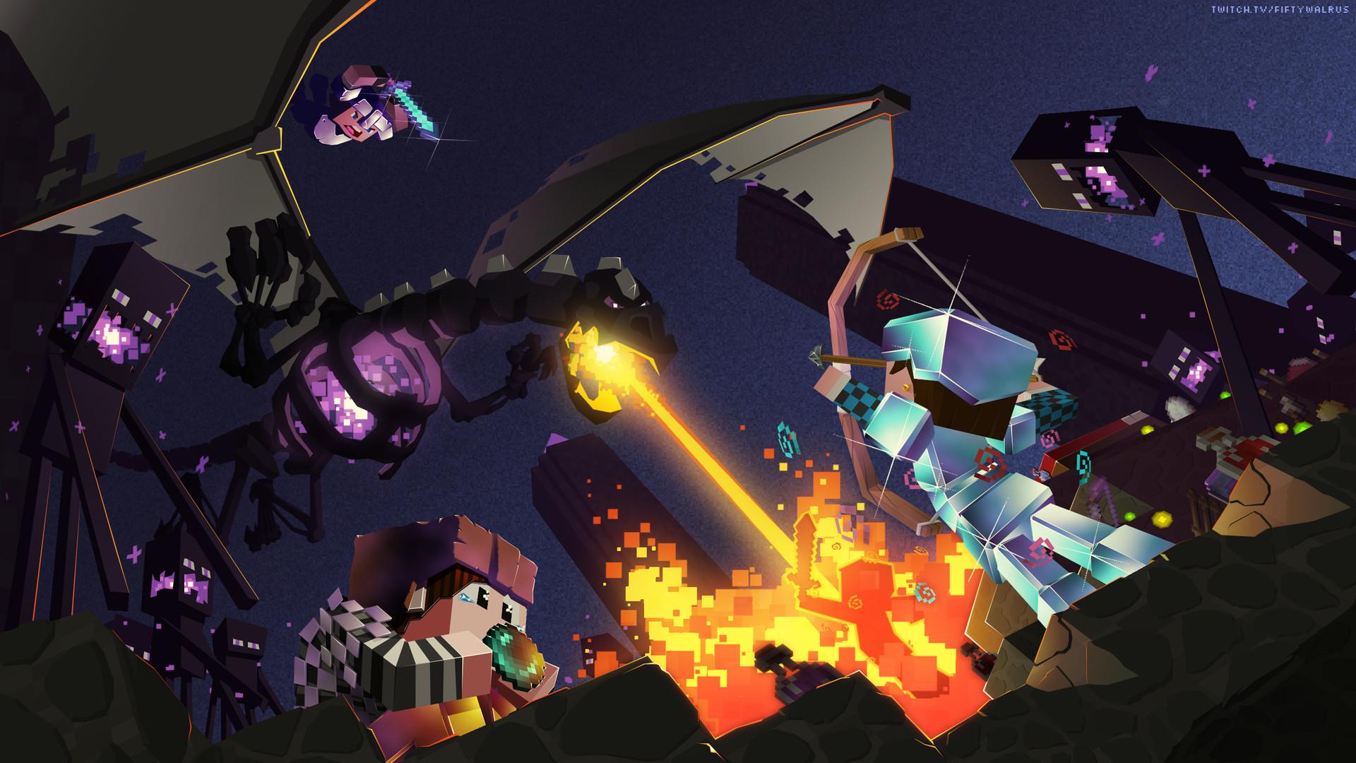 Monster Hunter Girl Wallpaper 1440 Artstation Minecraft Fan Art Kalvin Lyle