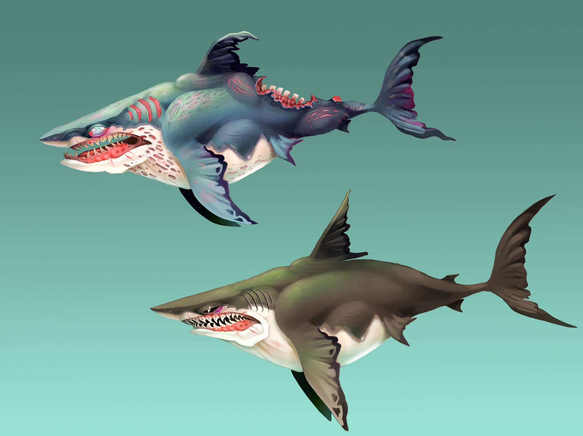 megalodon shark vs great white shark