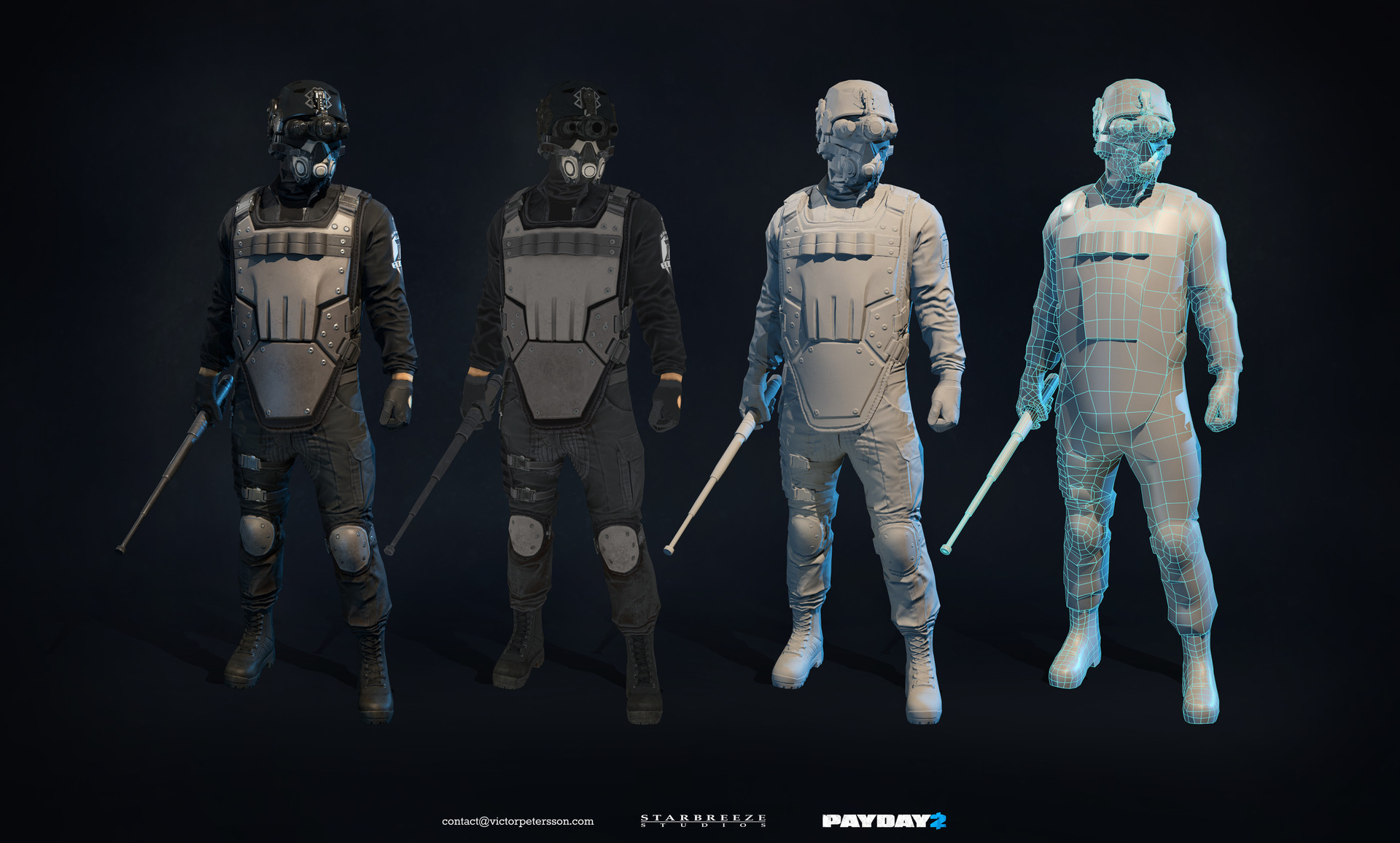 Victor Petersson  Payday 2  Zeal Cloaker  Game model