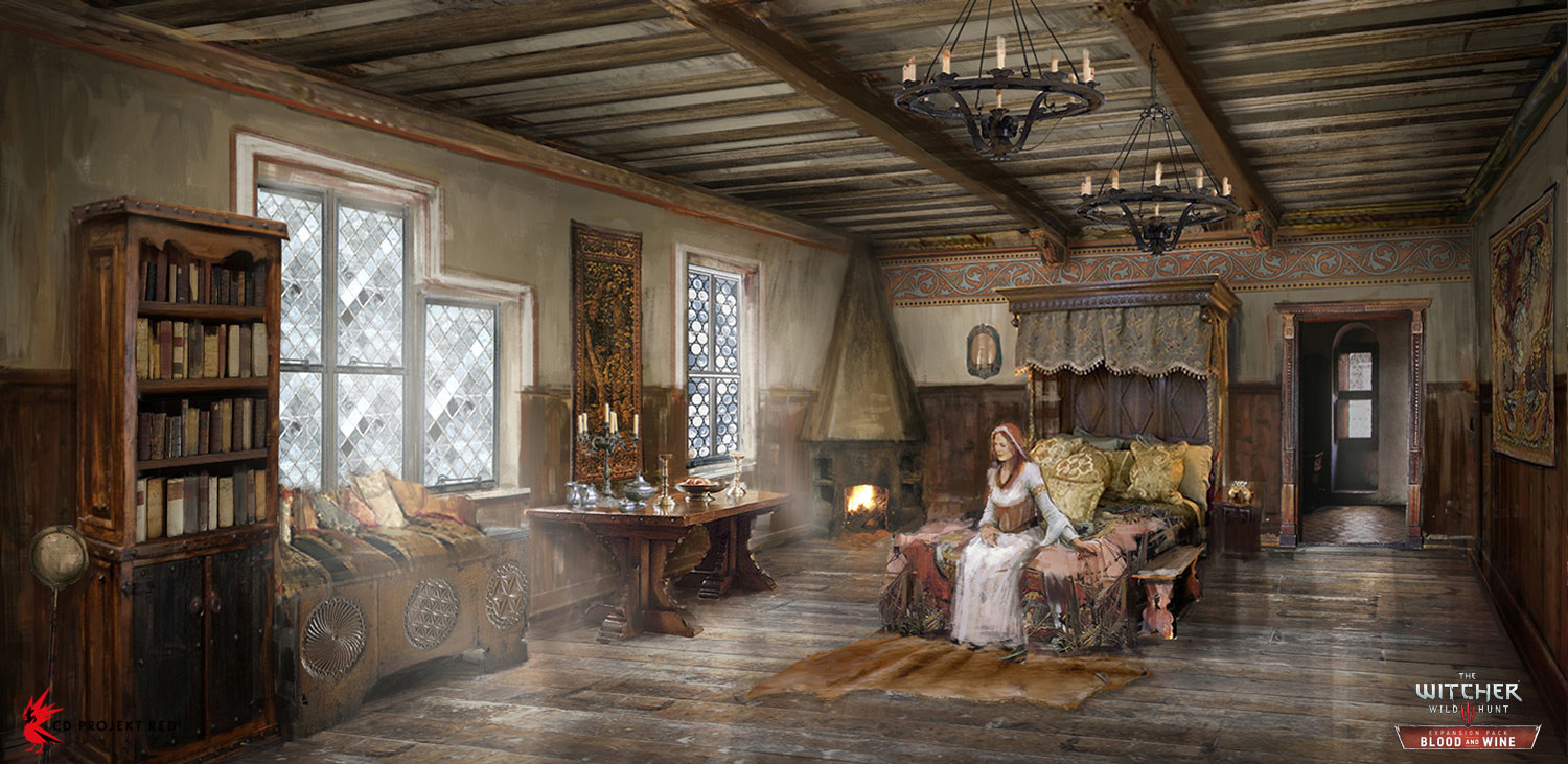 ArtStation The Witcher 3 Blood And Wine Interior 4 Andrzej Dybowski