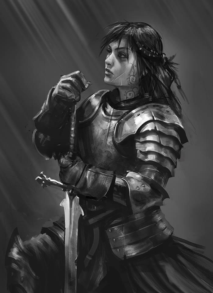 Samurai Sword Girl Wallpaper Artstation Daily Sketches Week 7 Tomasz Chistowski