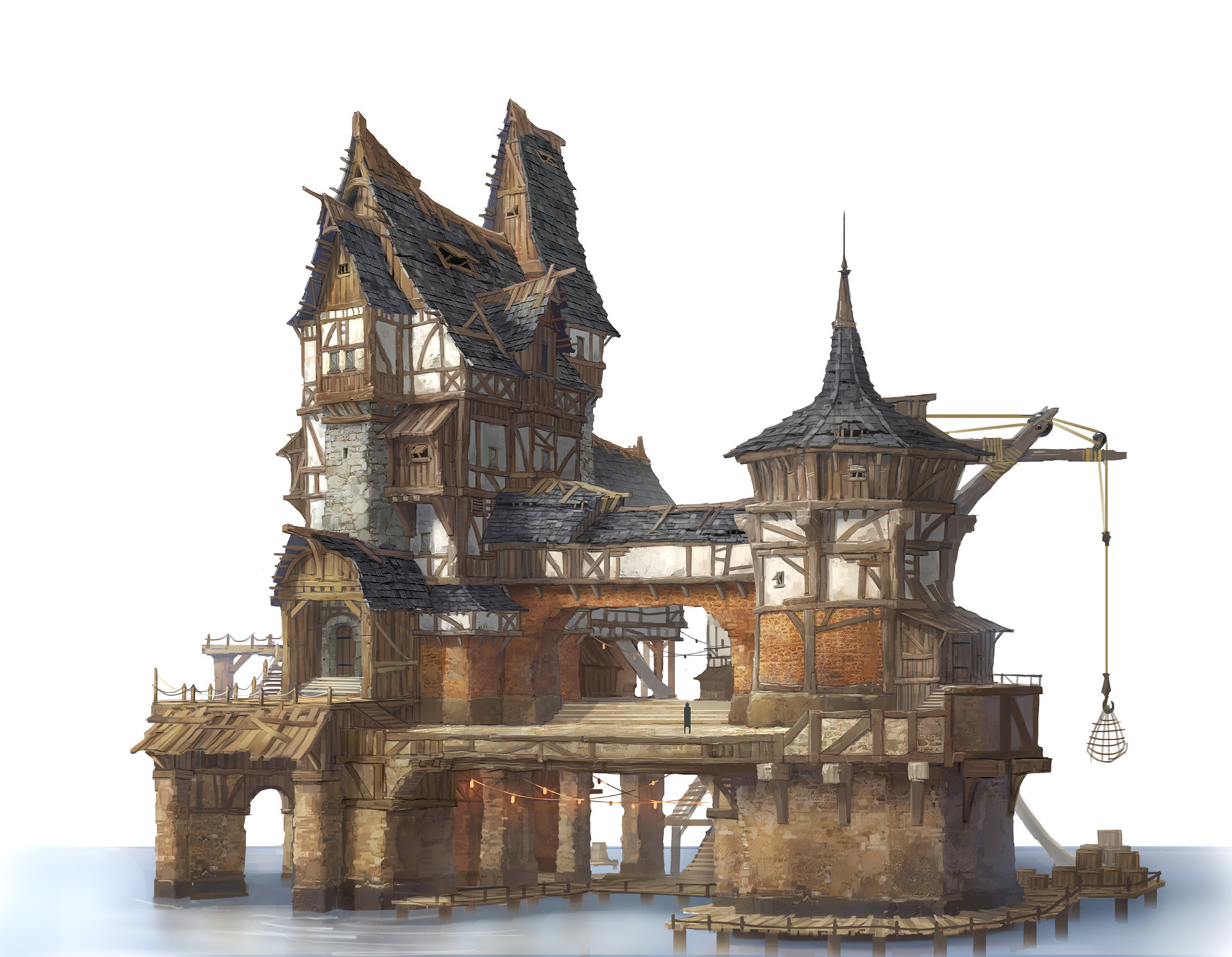 Artstation - Private House In Lake Village Jung Yeoll Kim