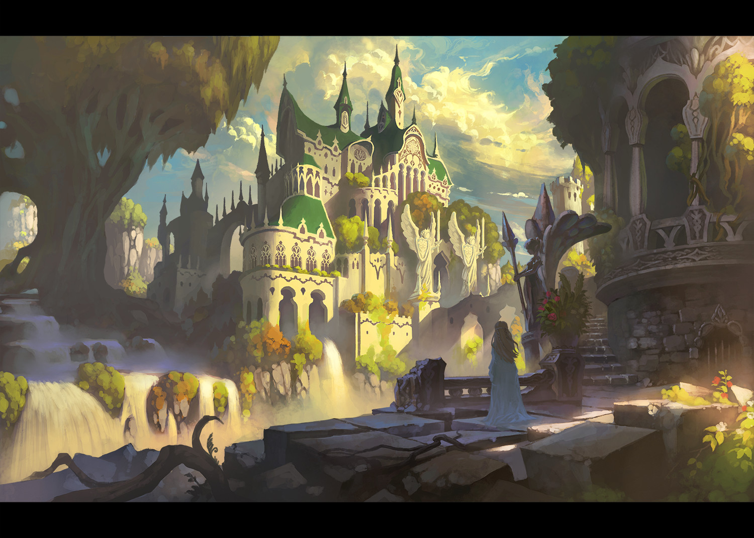 ArtStation  Royal palace of an elf dora