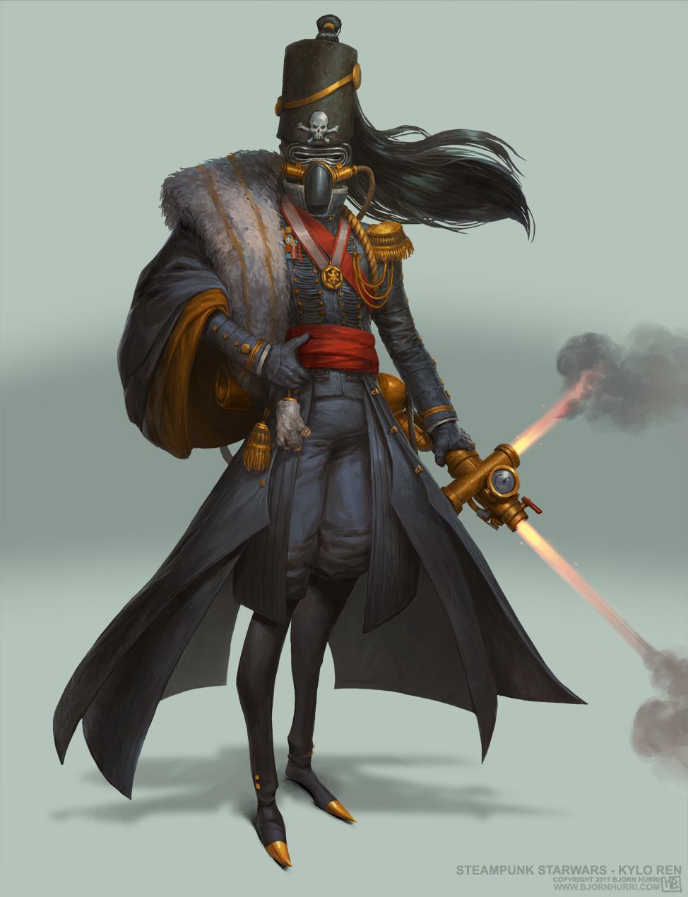 Steampunk Character Concept Art
