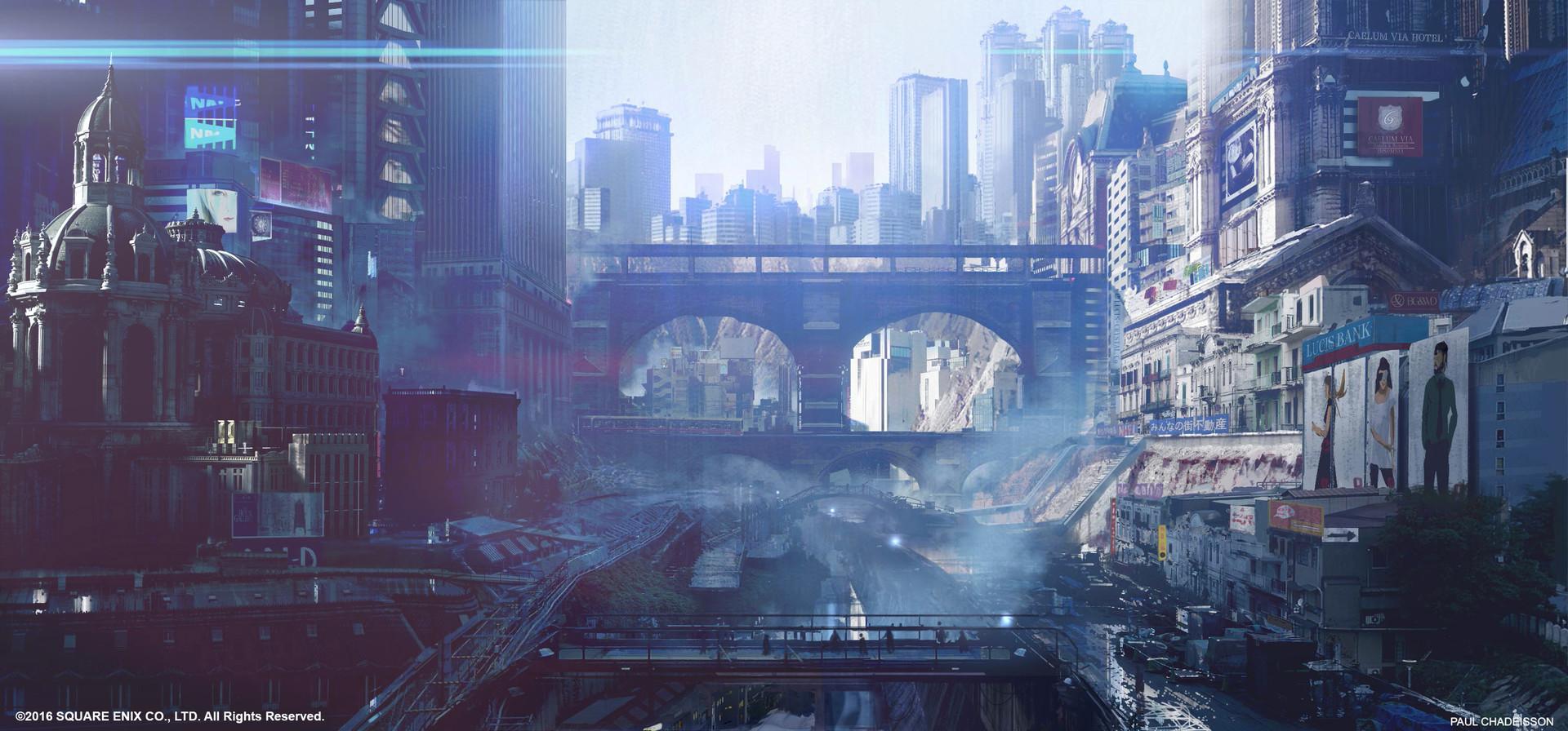 ArtStation Final Fantasy XV Kingsglaive Insomnia City View Paul Chadeisson