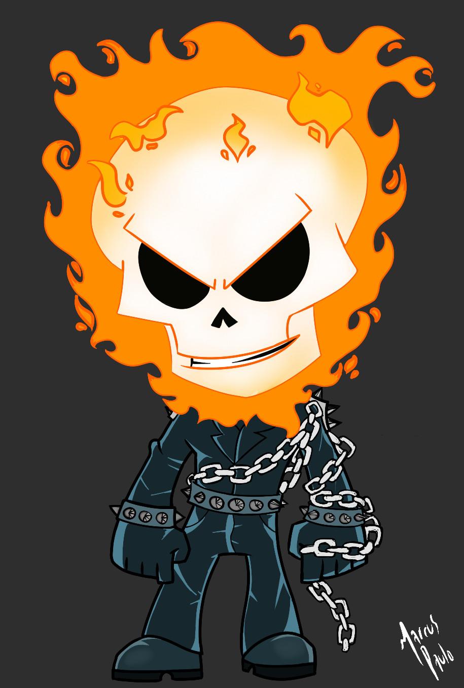 ArtStation  Ghost Rider Chibi Marcus Paulo